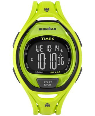 Timex Unisex Digital Ironman Sleek Green Bracelet Watch 54mm TW5M01700JT