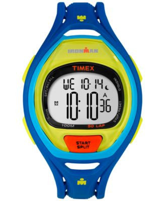 Timex Unisex Digital Ironman Sleek Blue Bracelet Watch 53mm TW5M01600JT