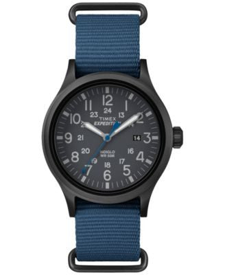 Timex Men's Expedition Scout Blue Nylon Strap Watch 52mm TW4B04800JT