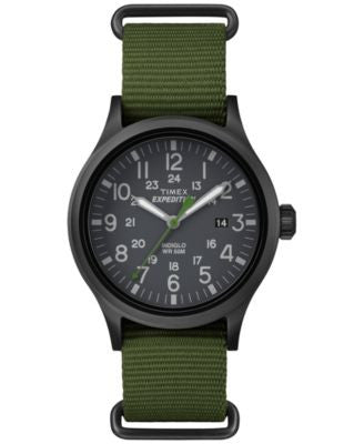 Timex Men's Expedition Scout Green Nylon Strap Watch 51mm TW4B04700JT