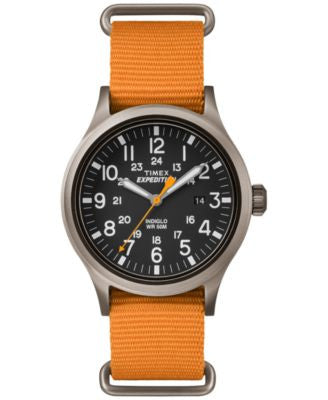 Timex Men's Expedition Scout Orange Nylon Strap Watch 50mm TW4B04600JT