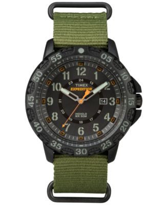 Timex Men's Rugged Green Nylon Strap Watch 59mm TW4B03600JT