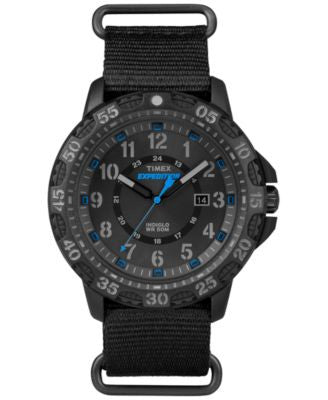 Timex Men's Rugged Black Nylon Strap Watch 58mm TW4B03500JT
