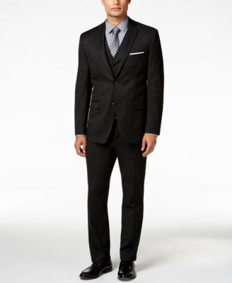Alfani Men's Traveler Black Solid Slim-Fit Suit Separates, Only at Vogily