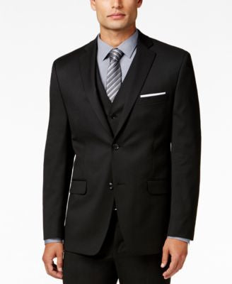 Alfani Men's Traveler Black Solid Slim-Fit Jacket, Only at Vogily