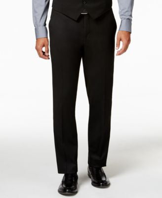 Alfani Traveler Black PV Solid Slim-Fit Pants, Only at Vogily