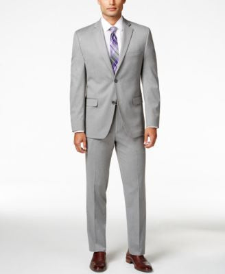 Alfani Men's Traveler Light Grey Solid Slim-Fit Suit Separates, Only at Vogily