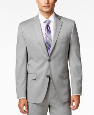 Alfani Men's Traveler Light Grey Solid Slim-Fit Jacket, Only at Vogily