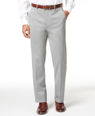 Alfani Men's Traveler Light Grey Solid Slim-Fit Pants, Only at Vogily