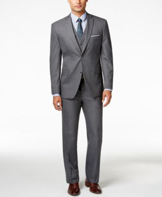 Alfani Men's Traveler Grey Solid Slim-Fit Suit Separates, Only at Vogily