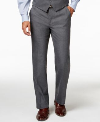 Alfani Traveler Grey Solid Slim-Fit Suit Pants, Only at Vogily