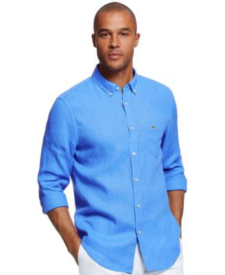 Lacoste Men's Long-Sleeve Button-Down Shirt