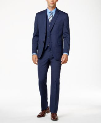 Alfani Men's Traveler Medium Blue Solid Slim-Fit Suit Separates, Only at Vogily