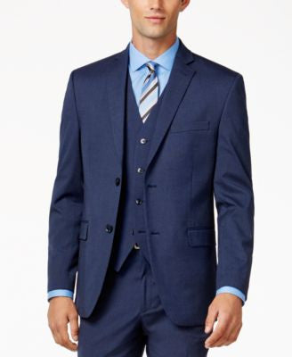 Alfani Men's Traveler Medium Blue Slim-Fit Jacket, Only at Vogily