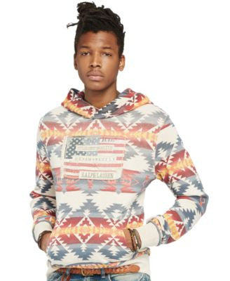 Denim & Supply Ralph Lauren Men's Flag-Patch French Terry Hoodie