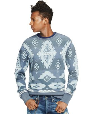 Denim & Supply Ralph Lauren Men's Southwestern-Print French Terry Pullover