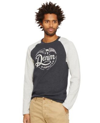 Denim & Supply Ralph Lauren Men's Eagle-Graphic Baseball Tee