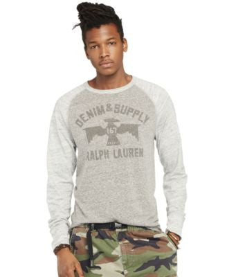 Denim & Supply Ralph Lauren Men's Jersey Graphic Long-Sleeve Tee