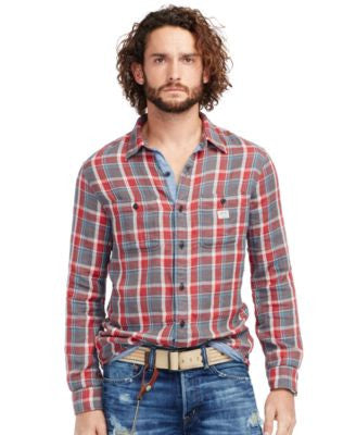 Denim & Supply Ralph Lauren Men's Plaid Cotton Shirt