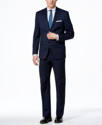 Alfani Men's Traveler Navy Solid Slim-Fit Suit Separates, Only at Vogily