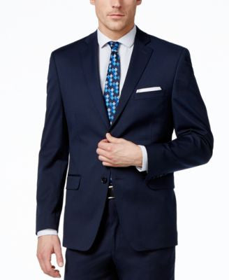 Alfani Men's Traveler Navy Solid Slim-Fit Jacket, Only at Vogily