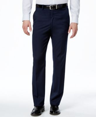 Alfani Men's Traveler Navy Solid Slim-Fit Pants, Only at Vogily