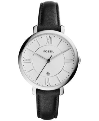 Fossil Women's Jacqueline Black Leather Strap Watch 38mm ES3972