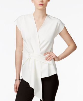 Bar III Draped Asymmetrical Top, Only at Vogily