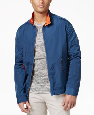Marc New York Big & Tall Men's Barracuda Moto-Collar Bomber Jacket