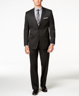 Alfani Men's Traveler Black Solid Classic-Fit Suit Separates, Only at Vogily