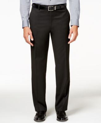Alfani Men's Traveler Black Solid Classic-Fit Pants, Only at Vogily