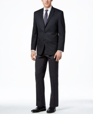Alfani Men's Traveler Charcoal Solid Classic-Fit Suit Separates, Only at Vogily