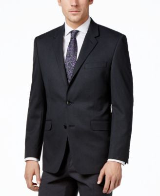 Alfani Men's Traveler Charcoal Solid Classic-Fit Jacket, Only at Vogily