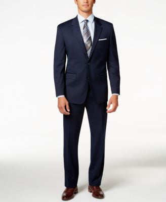 Alfani Men's Traveler Navy Solid Classic-Fit Suit Separates, Only at Vogily