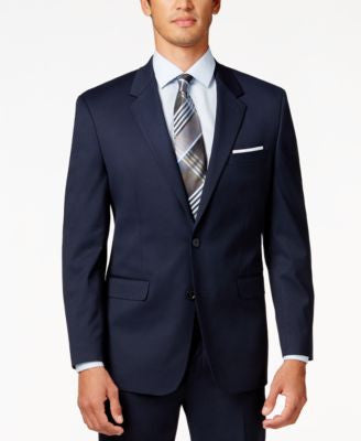 Alfani Men's Traveler Navy Solid Classic-Fit Jacket, Only at Vogily