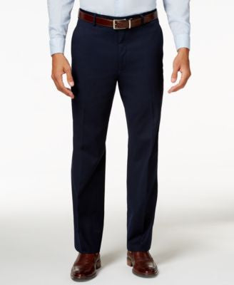 Alfani Men's Traveler Navy Solid Classic-Fit Pants, Only at Vogily