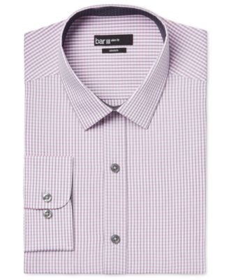 Bar III Slim-Fit Pink Heather Check Dress Shirt, Only at Vogily