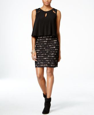 Thalia Sodi Embellished Lace Popover Dress, Only at Vogily
