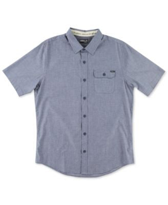 O'Neill Men's Emporium Solid Short-Sleeve Shirt