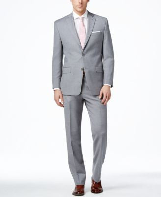 MICHAEL Michael Kors Men's Light Grey Sharkskin Classic-Fit Suit