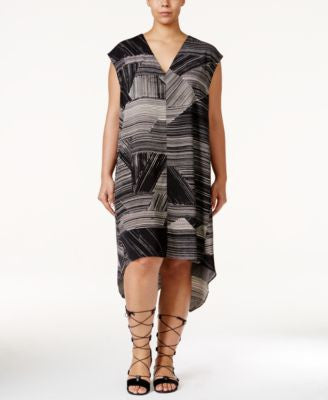 RACHEL Rachel Roy Curvy Plus Size Sydney Printed High-Low Dress