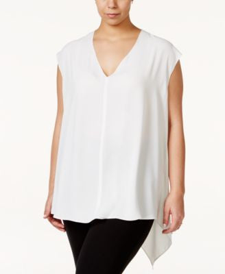 RACHEL Rachel Roy Curvy Trendy Plus Size Sydney High-Low Blouse