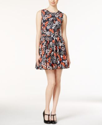 Maison Jules Floral-Print Fit & Flare Dress, Only at Vogily