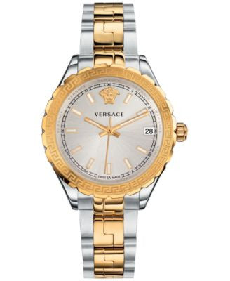 Versace Women's Swiss Two-Tone Ion-Plated Stainless Steel Bracelet Watch 35mm V12030015