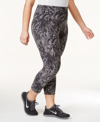 Style & Co. Sport Plus Size Printed Active Capri Leggings, Only at Vogily