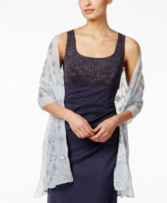 Style & Co. Blooming Sequins Floral Wrap, Only at Vogily