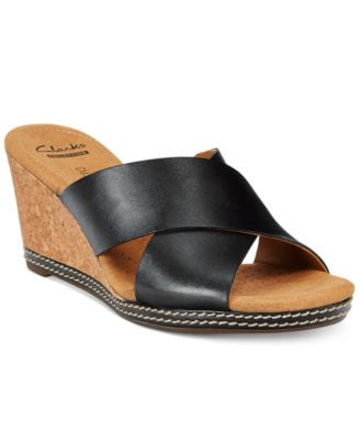Clarks Collection Women's Helio Swan Wedge Sandals