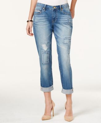 JAG Patched Alex Medium Wash Boyfriend Jeans