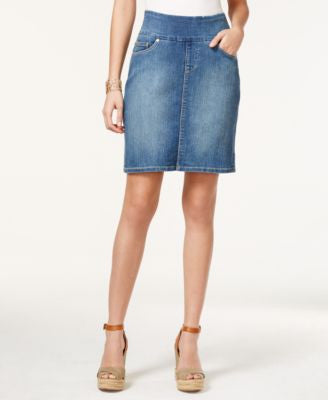 JAG Ingram Medium Wash Pull-On Denim Skirt