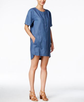 Calvin Klein Jeans Short-Sleeve Denim Shirtdress
